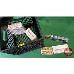 Brass: (179pcs of 22-250REM) w/Milk Crate