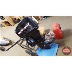 40hp Mercury Outboard 4 Stroke Tiller Control Engine (With Wheel Dolly, Gas Tank & Other Extra's)