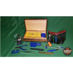 Variety of Precision Tools in Wooden Trinket Box