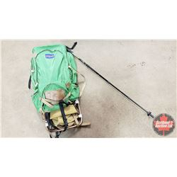 Frame Pack & Retractable Hiking Pole