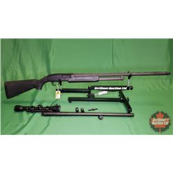 Shotgun: Mossberg 500A ~ 12ga Pump w/Choke Tubes & Extra Rifle Slug Barrel & Scope 3-9x40) S/N#R3616