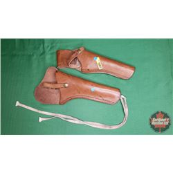 2 Leather Gun Holsters (RCMP Style)