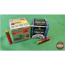 """AMMO: Federal .410ga 2-1/2"""" (1 Box / 25 per Box) + Winchester .410ga 2-1/2"""" (1 Box / 25 per Box)"""