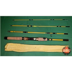 ROD: Eagle Claw Trailmaster 6-1/2ft Spinning Rod 4pc - Rod No. TRSR249