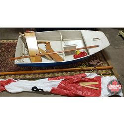 SAIL BOAT - Wooden - 8ft - With Sail