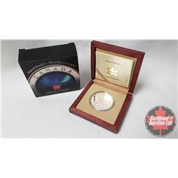 RCM 2004 Canadian $20 Coin Natural Wonders Aurora Borealis COA#14910 (99.99%)