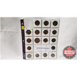 Pre & Post Confed Coins & Tokens - Sheet of 17: Province of Nova Scotia Half Penny Token 1832; Bank