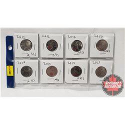 Canada Twenty Five Cent - Sheet of 8: 2012 (4) ; 2013 (4)