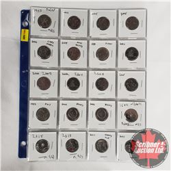 Canada Twenty Five Cent - Sheet of 20: 1973; 2002; 2005; 2005; 2006; 2009; 1992; 2010; 2007; 2007; 2