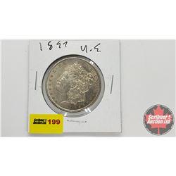 US Morgan Dollar : 1897