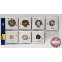 Canada 1997 Coins (7): Toonie, Loonie, Fifty Cent, Twenty Five, Ten Cent, Five Cent, One Cent