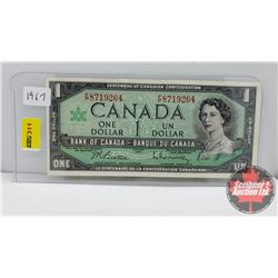 Canada $1 Bill : 1967 Beattie/Rasminsky S/N#FP8719264