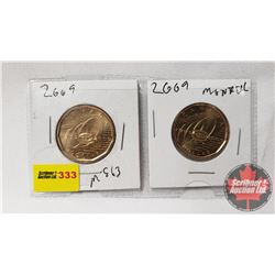 Canada Loonie Montreal Canadiens - Strip of 2: 2009; 2009