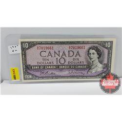 Canada $10 Bill 1954 Beattie/Rasminsky S/N#SV7019661