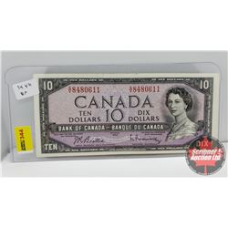 Canada $10 Bill 1954 Beattie/Rasminsky S/N#SV8480611