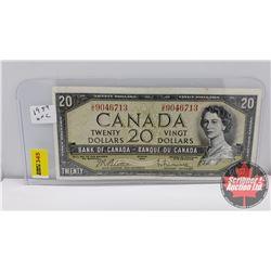 Canada $20 Bill 1954 Beattie/Rasminsky S/N#UE9046713