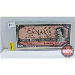 Canada $2 Bill 1954 *Replacement Beattie/Rasminsky *BB1148187