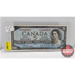 Canada $5 Bill 1954 *Replacement Beattie/Rasminsky *VS0343435