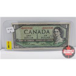 Canada $1Bill 1954 *Replacement Beattie/Rasminsky *BM0823546