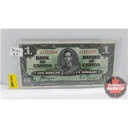 Canada $1 Bill 1937 Coyne/Towers S/N#SN1572599