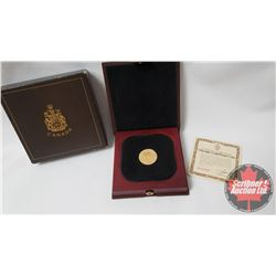Olympic $100 Gold Proof Coin 1976 (COA #B33328)