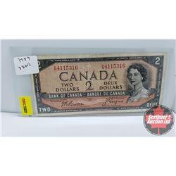 Canada $2 Bill 1954DF Beattie/Coyne S/N#HB4115316