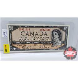 Canada $50 Bill 1954DF Coyne/Towers S/N#AH0921645