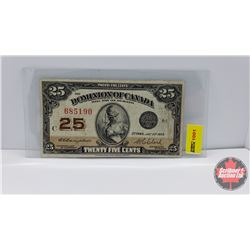 "Canada Twenty Five Cent ""Shinplaster"" 1923"