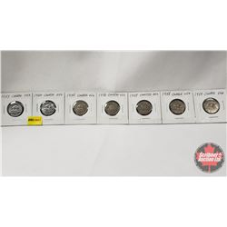 Canada Five Cent - Strip of 7: 1953; 1954; 1955; 1956; 1957; 1958; 1959