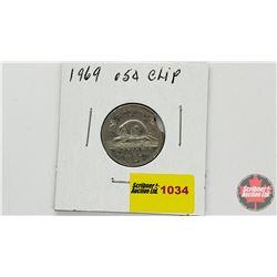 Canada Five Cent 1969 Clip