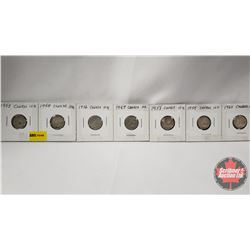 Canada Ten Cent - Strip of 7: 1953; 1954; 1956; 1957; 1958; 1959; 1960