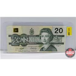 """Canada $20 Bill 1991 Knight/Dodge S/N#AWW6137316 """"Radar"""""""