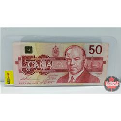 Canada $50 Bill 1988 Thiessen/Crow S/N#EHX3194369 (Replacement)