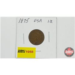 US One Cent 1875