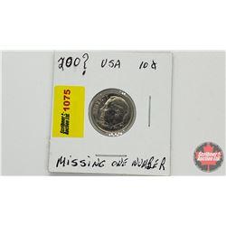 US Ten Cent 200?P (Number missing)