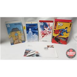 Stamps - Canada : The Series of the Century - Book of 10; Superheroes - Book of 10; St. Francis Xavi