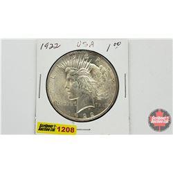US Peace Dollar 1922