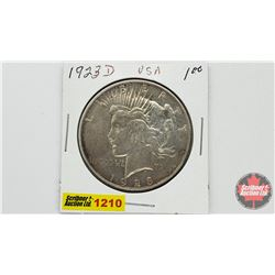US Peace Dollar 1923D