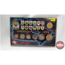 Canada - Normandy - 1944-1994 Double Loonie Year Set