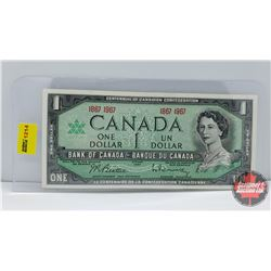 Canada $1 Bill 1867-1967 Centennial (No S/N#)
