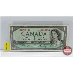 Canada $1 Bill 1954* Lawson/Bouey S/N# *XF0289170 (Replacement)