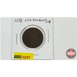 Newfoundland One Cent 1876H