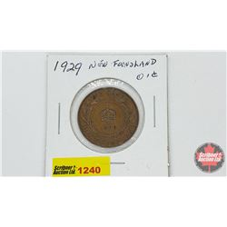 Newfoundland One Cent 1929