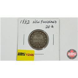 Newfoundland Twenty Cent 1882H