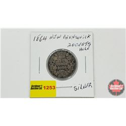NewBrunswick Twenty Cent 1864 (Hole)