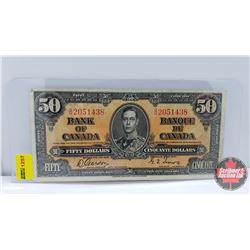 Canada $50 Bill 1937 Gordon/Towers S/N#BH2051438
