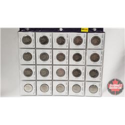 Canada Fifty Cent - Sheet of 20: 1968; 1969; 1970; 1971; 1972; 1973; 1974; 1975; 1976; 1978; 1979; 1