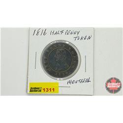 Half Penny Token 1816 Montreal