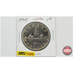 Canada Silver Dollar 1951