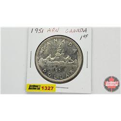 Canada Silver Dollar 1951 ARN